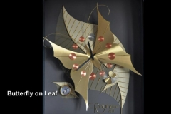 """BUTTERFLY on LEAF: 28"""" x 22"""""""