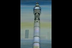 """TELECOM TOWER CLOCK: 25"""" x 14"""""""