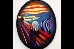 "THE SCREAM 36"" X 29"" ACRYLIC £1000 AFTER MUNC"