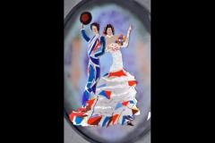 "Flamenco dancers 46"" x 38"" £1750"