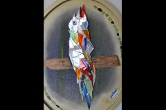 """Parrot on Perch 24"""" x 20"""" £200"""