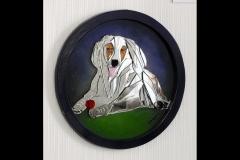 "Shantie Spaniel Shepherd cross 15"" diameter £150"