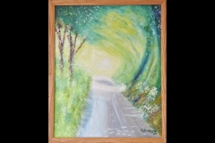 """APROACH TO TELSCOMBE: 23"""" x 19"""" Not For Sale (Oil)"""