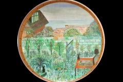 "ARTIST'S CLIFFE TOP GARDEN IN PEACEHAVEN: 20"" CIRCLE £375 (Watercolour)"