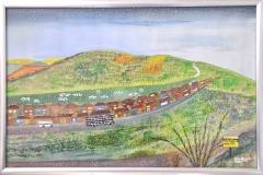"""COOMBE FARM: 29"""" x 20"""" £400 (Watercolour)"""