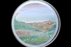 "EASTBOURNE COASTLINE 23"" CIRCLE £200 (Watercolour)"