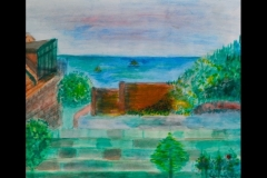 """LORD AMHERST'S GARDEN: 18' x 18"""" £250 (Watercolour)"""