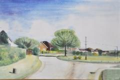 "OVAL GREENS: 20"" x 16"" (Prints @ £50) (Watercolour)"