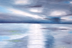 "REFLECTION: 25"" x 17"" £500 (Oil)"