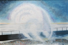 "SEASPRAY AT SALTDEAN: 20"" X 16"" £150 (Oil)"