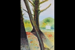 """SOUTHILL LANE EASTCOTE: 26"""" x 17"""" Not For Sale (Oil)"""