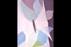 """WINGS AND LEAVES: 38"""" x 30"""" £650 (Watercolour)"""