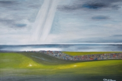 "ENLIGHTENMENT ON TELSCOMBE TYE: 25""x17"" £650 (Oil)"