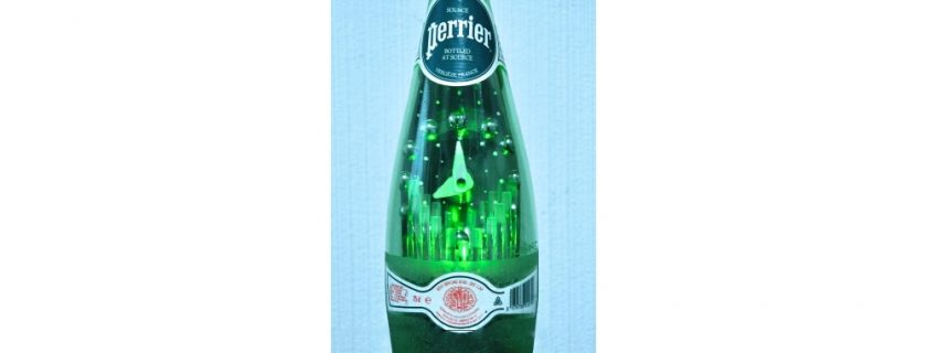A New Year Toast With A Glass Of Perrier!