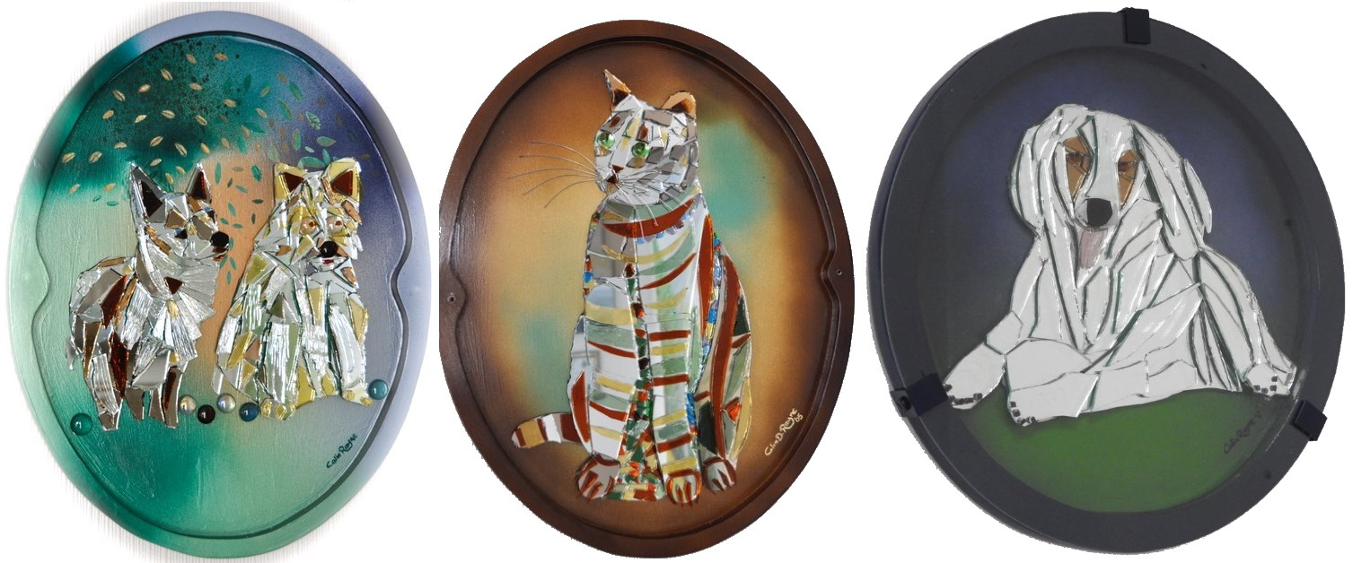 pet portraits in glass