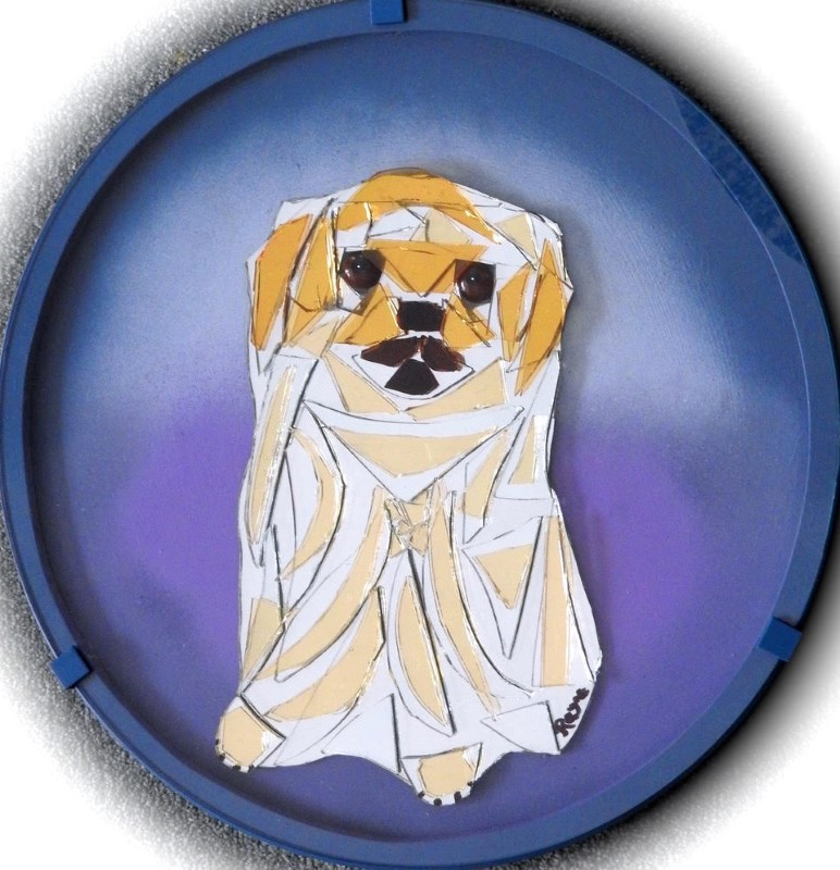 timmy tibetan spaniel glass collage