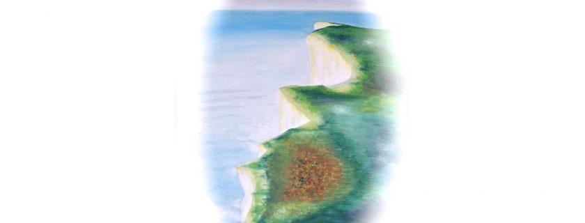 Cliff at Beachy Head (on a foggy day)