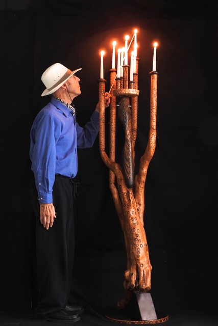 Colin Rayne with Candelabra